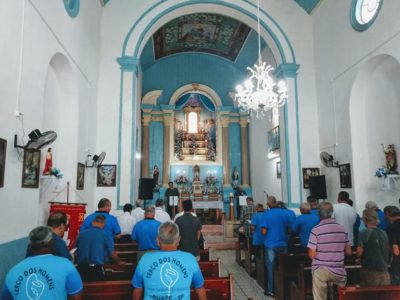 Paróquia Nossa Senhora da Neves comemora 10 anos do Terço dos Homens