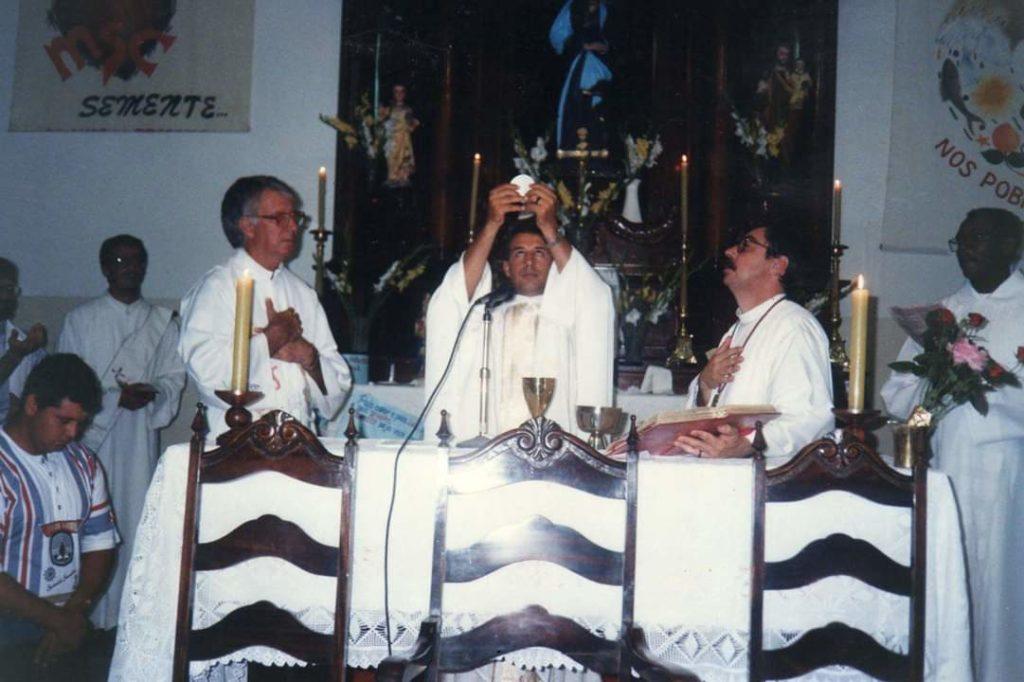 Celebração de sua primeira missa