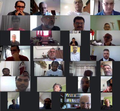 Clero de Registro participa de encontro de espiritualidade virtual